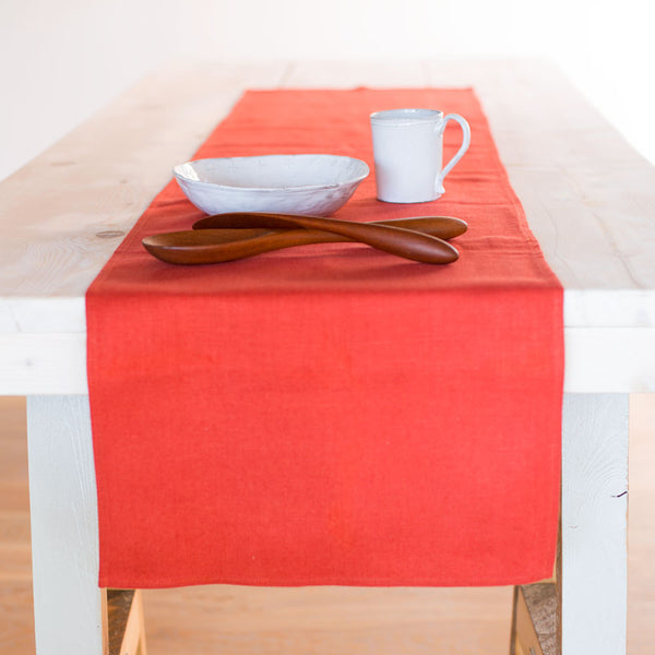 "lara runner-kitchen & dining - table linens-linenMe-Orange-16"" x 90""-k colette"