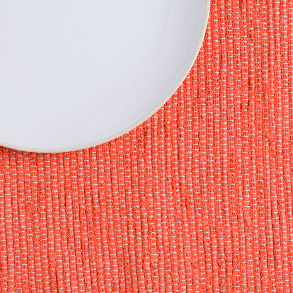 lara hand woven placemat-kitchen & dining - table linens-linenMe-salmon-k colette