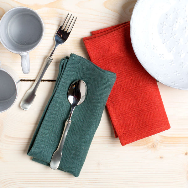 lara napkin-kitchen & dining - table linens - sale-linenMe-olive green-k colette