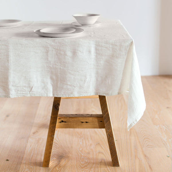 "laundered linen solid tablecloth-kitchen & dining - table linens-couleur nature-60"" x 110""-k colette"