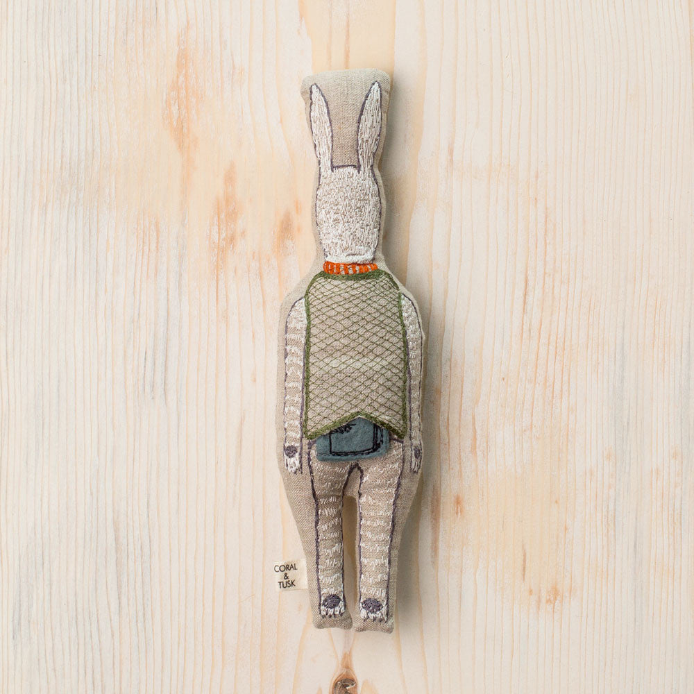 rabbit with suitcase pocket doll-baby - toys-coral & tusk-k colette