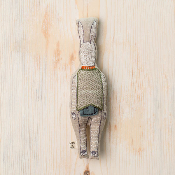 rabbit with suitcase pocket doll-baby - toys-coral & tusk-Default Title-k colette