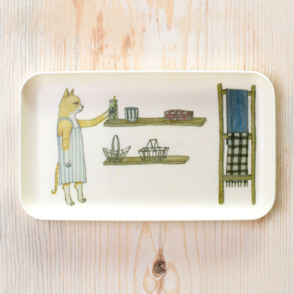 goban the studio cat tray-kitchen & dining - serveware - art & decor - decorative objects-coral & tusk-k colette