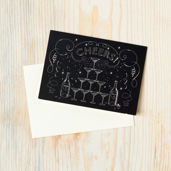 chalkboard cheers boxed stationery set-desktop - paper goods-felix doolittle-Default Title-k colette