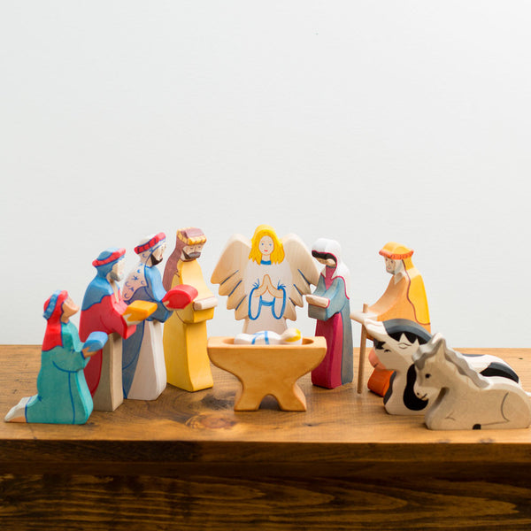 mary nativity figure-holiday - decor - baby - toys-holztiger-k colette