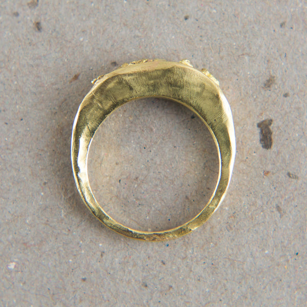 gold tab nugget ring-accessories - jewelry - stylish - luxury-blair lauren brown-k colette