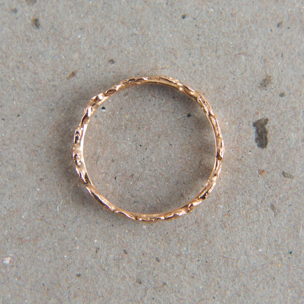rose gold faux nugget & pavé diamond eternity ring-accessories - jewelry-blair lauren brown-Rose Gold-k colette