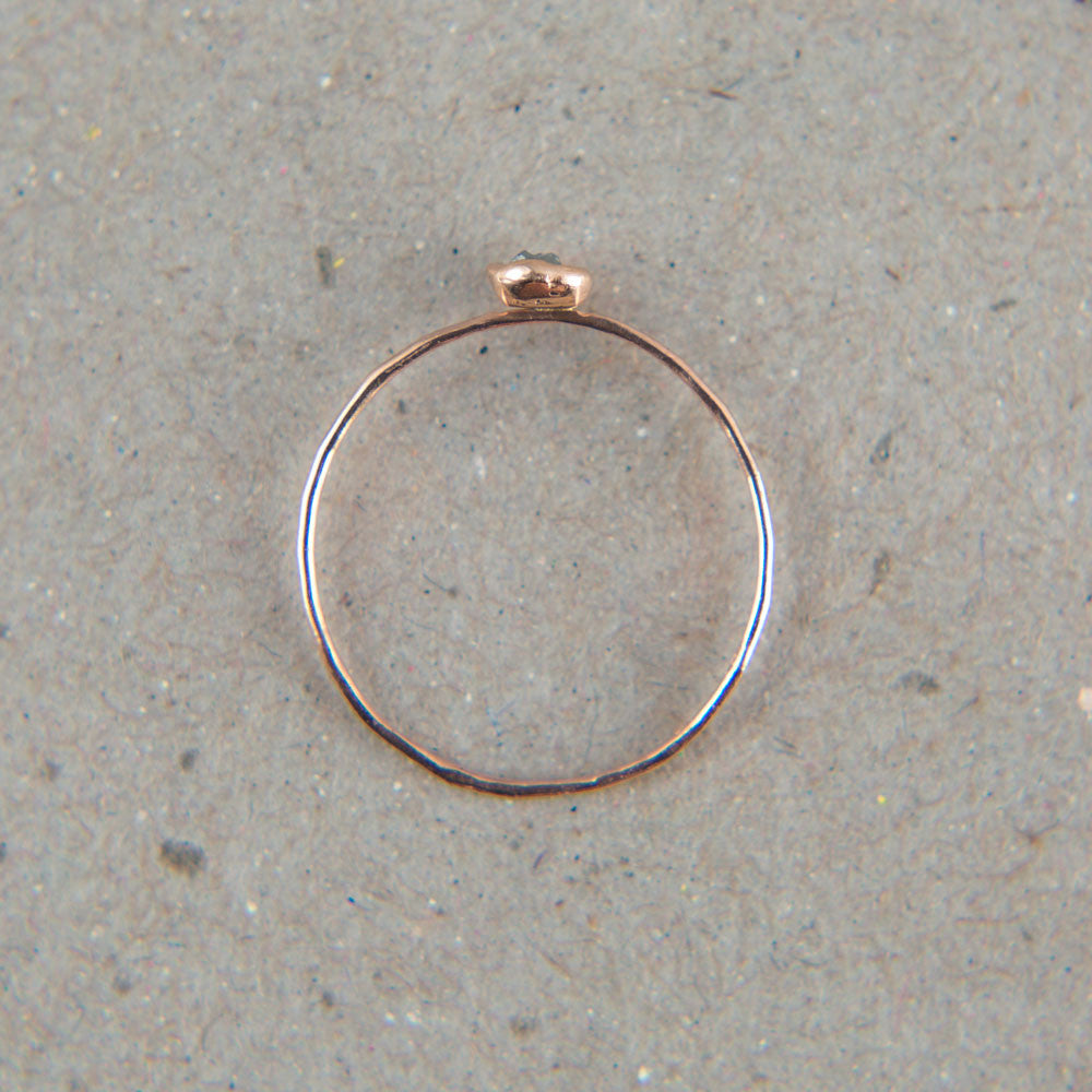rose gold press set raw diamond ring-accessories - jewelry-blair lauren brown-Rose Gold-k colette