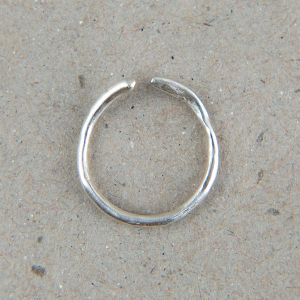 silver asymmetric cuff ring-accessories - jewelry - ooak-blair lauren brown-k colette