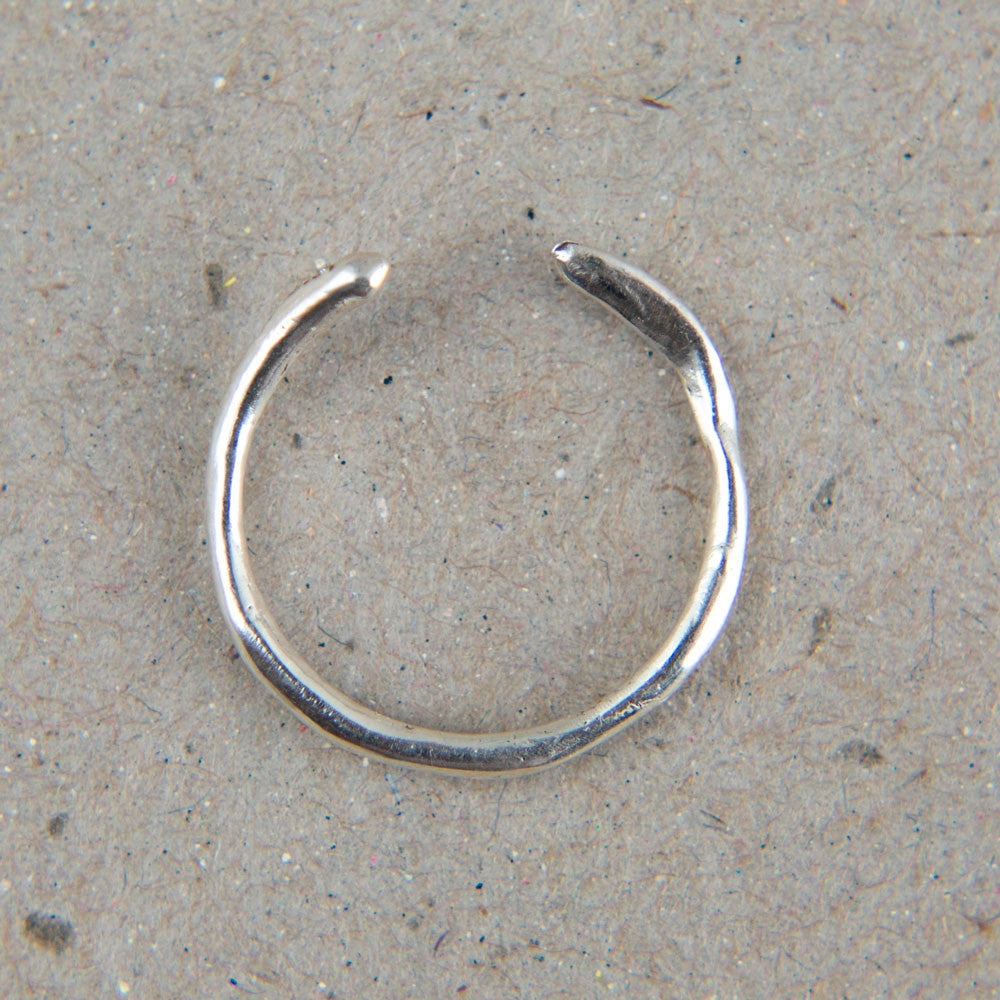 silver asymmetric cuff ring with diamonds-accessories - jewelry-blair lauren brown-k colette