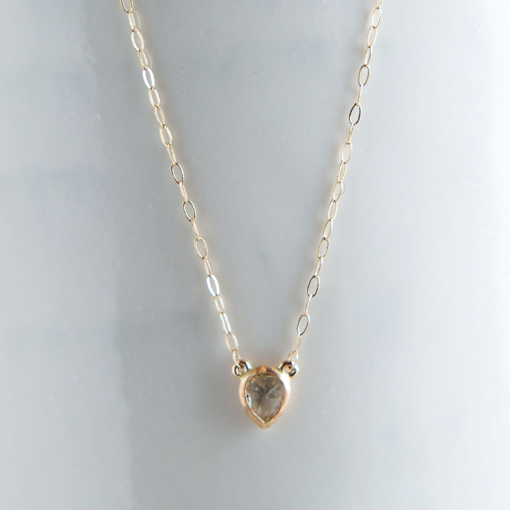 bitti pear shaped yellow diamond necklace-accessories - jewelry-blair lauren brown-Yellow Gold-k colette