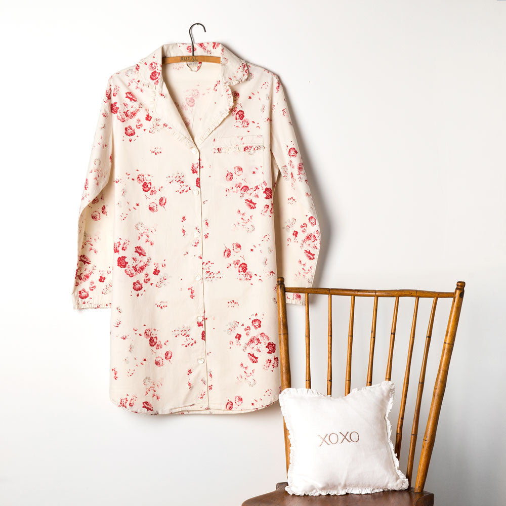 sarah nightshirt-textiles - pajamas-taylor linens-small-k colette