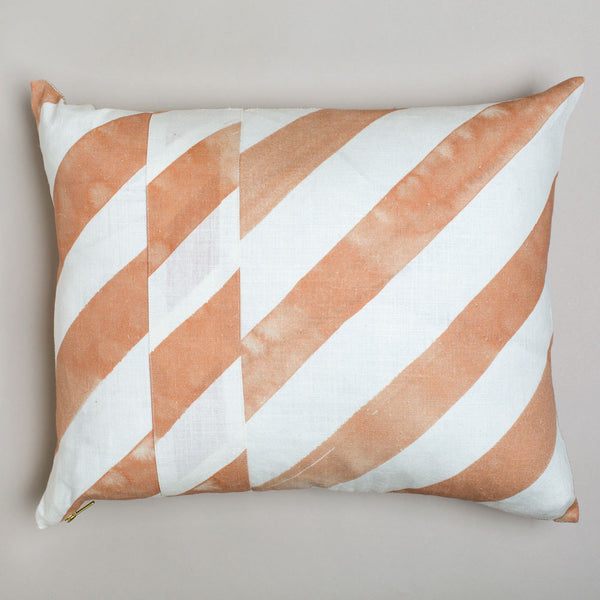diagonal stripe lumbar, blush/gold-bed & bath - decor - pillows-rebecca atwood-k colette