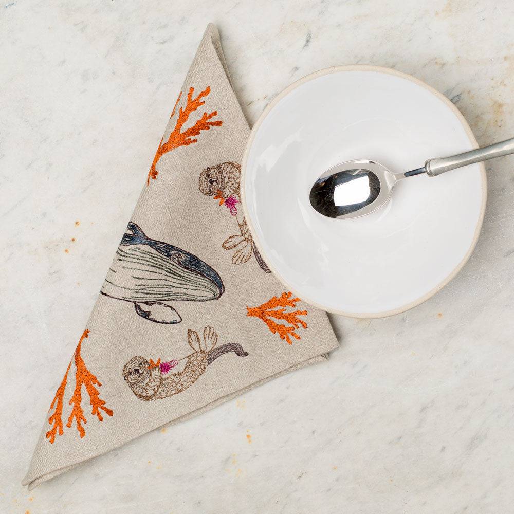 coral forest napkin-kitchen & dining - table linens-coral & tusk-Default Title-k colette