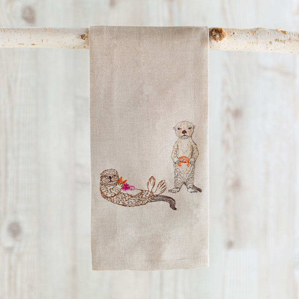 sea otter tea towel-kitchen & dining - tea towels & aprons-coral & tusk-k colette