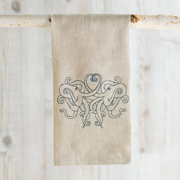 octopus love tea towel-kitchen & dining - tea towels & aprons-coral & tusk-Default-k colette