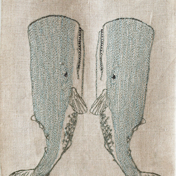 whale love tea towel-kitchen & dining - tea towels & aprons - sea-coral & tusk-k colette