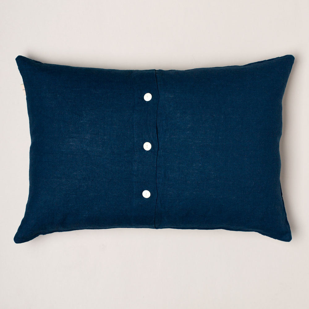 indigo whale linen pillow-bed & bath - decor - pillows-taylor linens-k colette