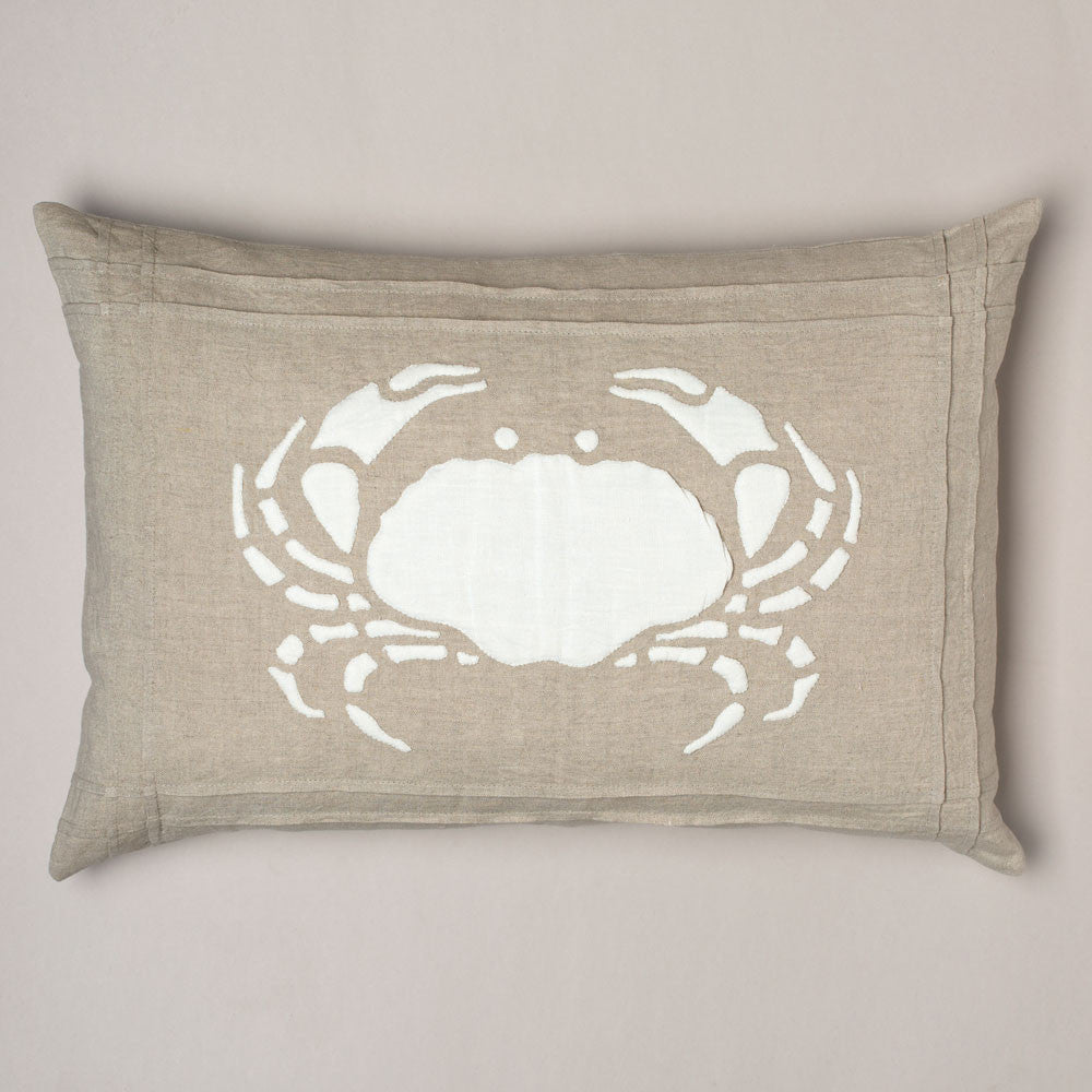 natural crab linen pillow-bed & bath - decor - pillows-taylor linens-k colette
