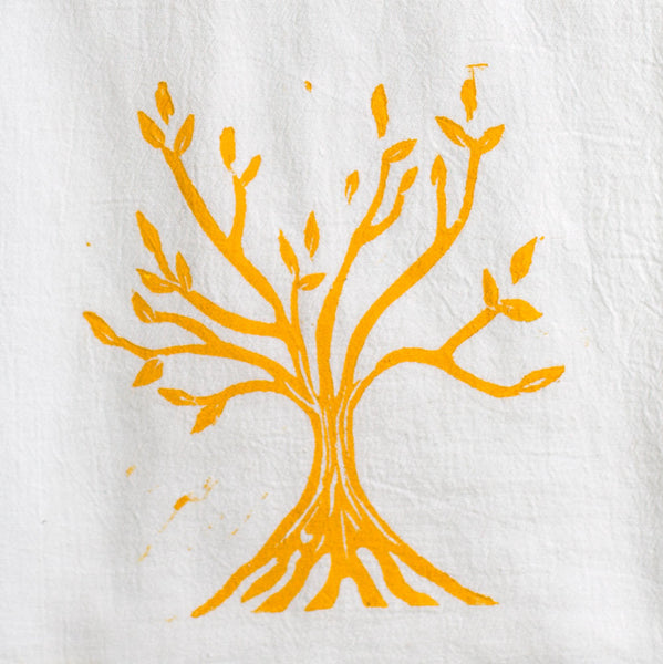 tree of life wood block print tea towel-kitchen & dining - tea towels & aprons - maine-color.joy-k colette