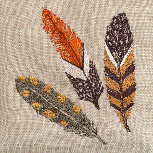 feather sachet, browns-none - special-coral & tusk-k colette