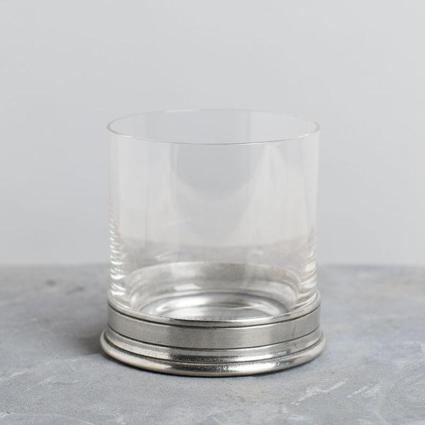 crystal & pewter double old fashioned glass-kitchen & dining - bar & drinkware-match-Default-k colette
