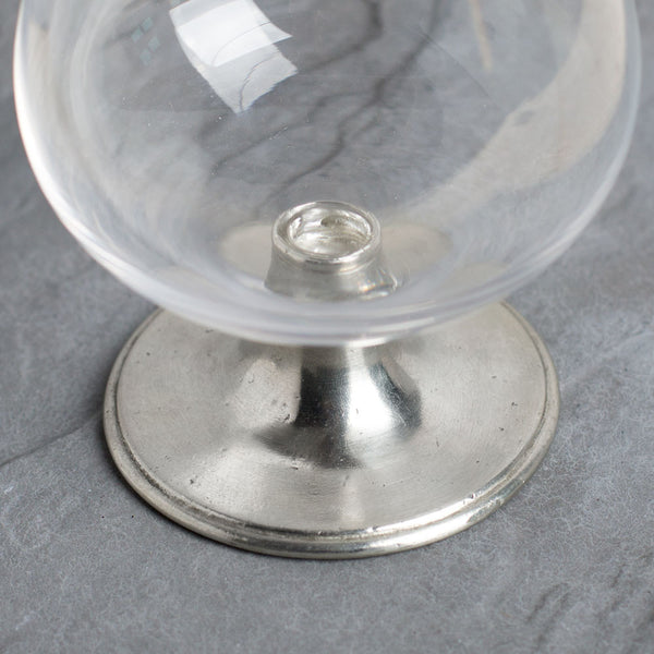 crystal & pewter cognac glass-kitchen & dining - bar & drinkware - love-match-k colette