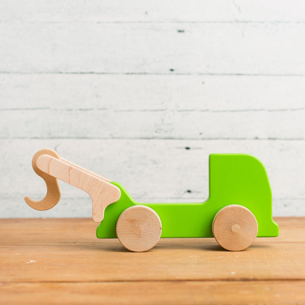 tow truck wooden push toy-baby - toys-manny & simon-Default-k colette