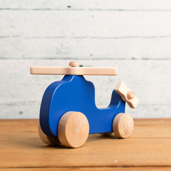 helicopter wooden push toy-baby - toys-manny & simon-Default-k colette