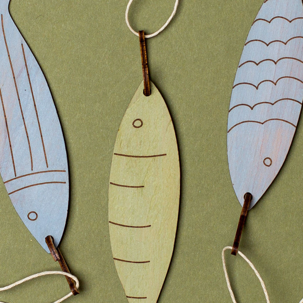 hooked fish ornaments-holiday - ornaments-henderson dry goods-k colette