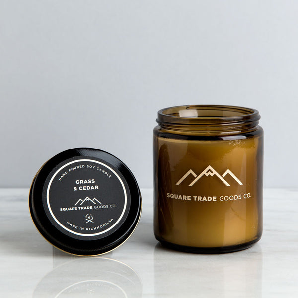 grass & cedar candle-art & decor - apothecary - candles-square trade goods co.-k colette