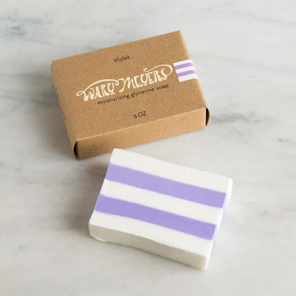 violet bar soap-apothecary - soaps & lotions - maine-wary meyers-k colette