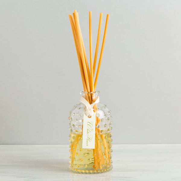 white flower hobnail oil diffuser-candles - room sprays & diffusers-simpatico by k hall designs-Default-k colette