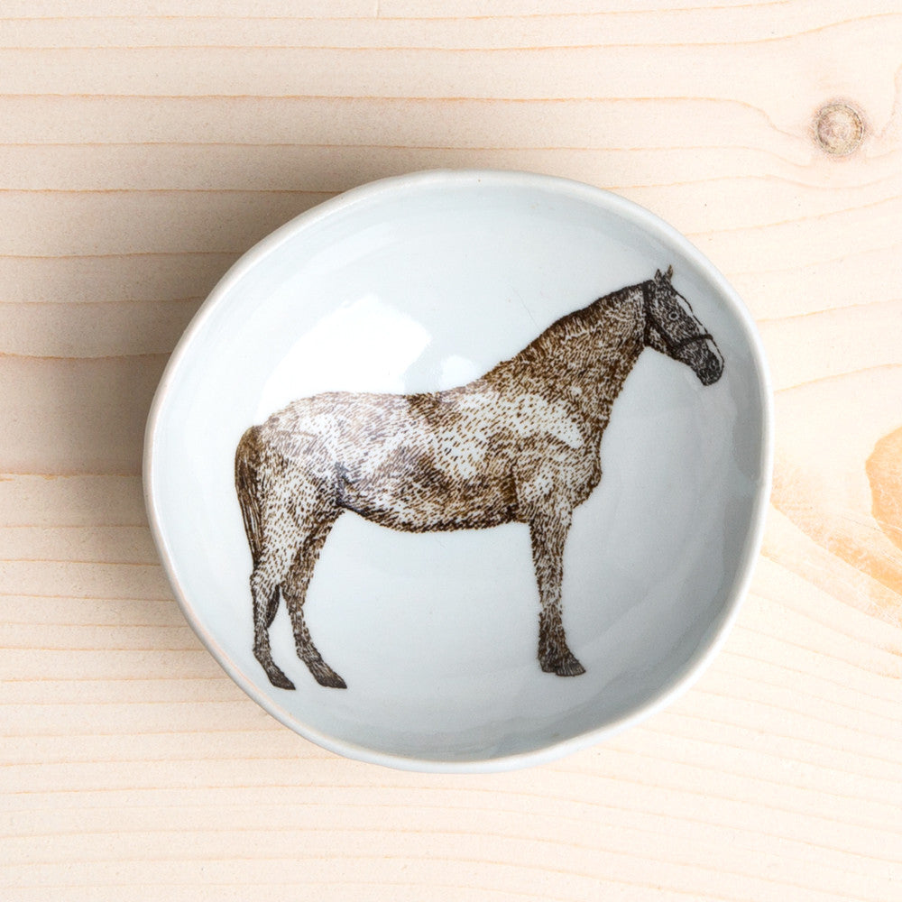 wood grain round dish-art & decor - decorative objects - kitchen & dining - serveware-skt ceramics-horse-k colette