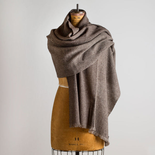 gobi wool & yak shawl-accessories - scarves - ooak - winter-teixidors-red & bordeaux-k colette