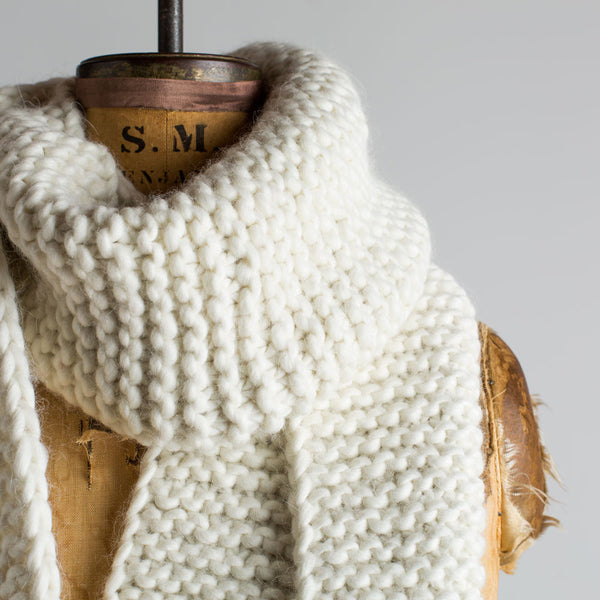 chunky knit scarf-accessories - scarves - winter-sien + co-light grey-k colette