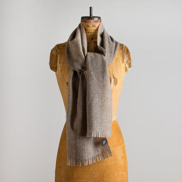 gobi wool scarf-accessories - scarves-teixidors-light grey-k colette