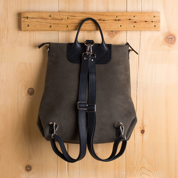 nubuck leather bedford backpack, moss-accessories - handbags & clutches-graf lantz-Default-k colette
