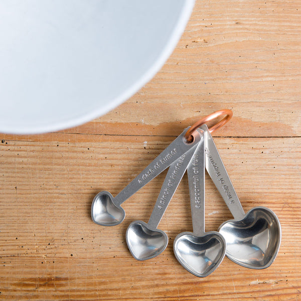 quotes heart measuring spoon set-kitchen & dining - cooking & baking - love-beehive handmade-k colette