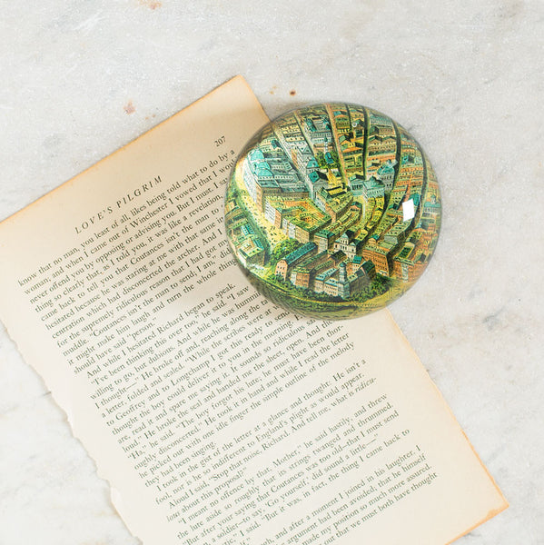 NYC lower manhattan dome paperweight-art & decor - decoupage - desktop - paperweights-john derian-Default-k colette