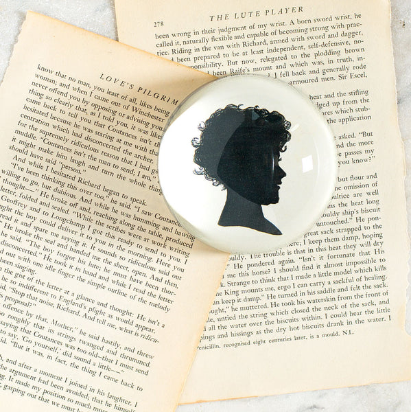 child silhouette dome paperweight-desktop - paperweights-john derian-k colette