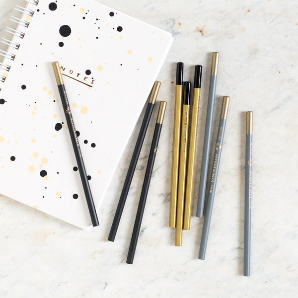 luxury pencil set-desktop - paper goods - journals-katie leamon-black-k colette