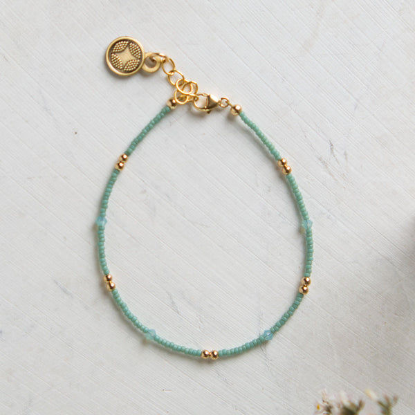 hope single strand bracelet-accessories - jewelry-illuminated me-sea foam green-k colette