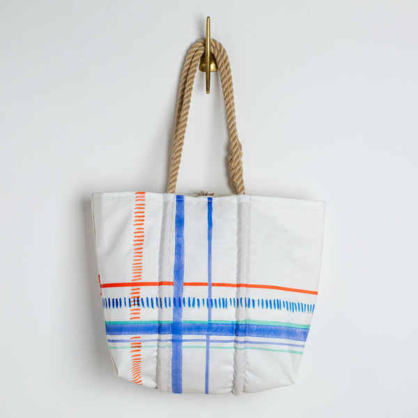 watercolor plaid sea bags tote-accessories - handbags & clutches - maine - sea - stylish-sea bags-k colette