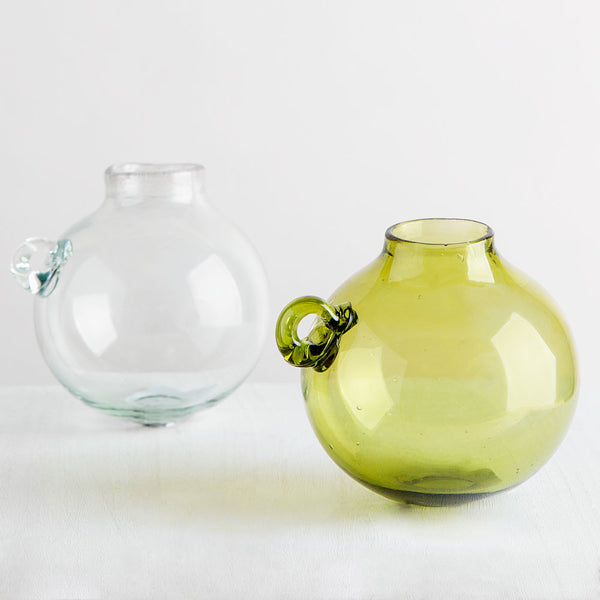 blown glass boule vase-art & decor - decorative objects-la soufflerie-clear-k colette
