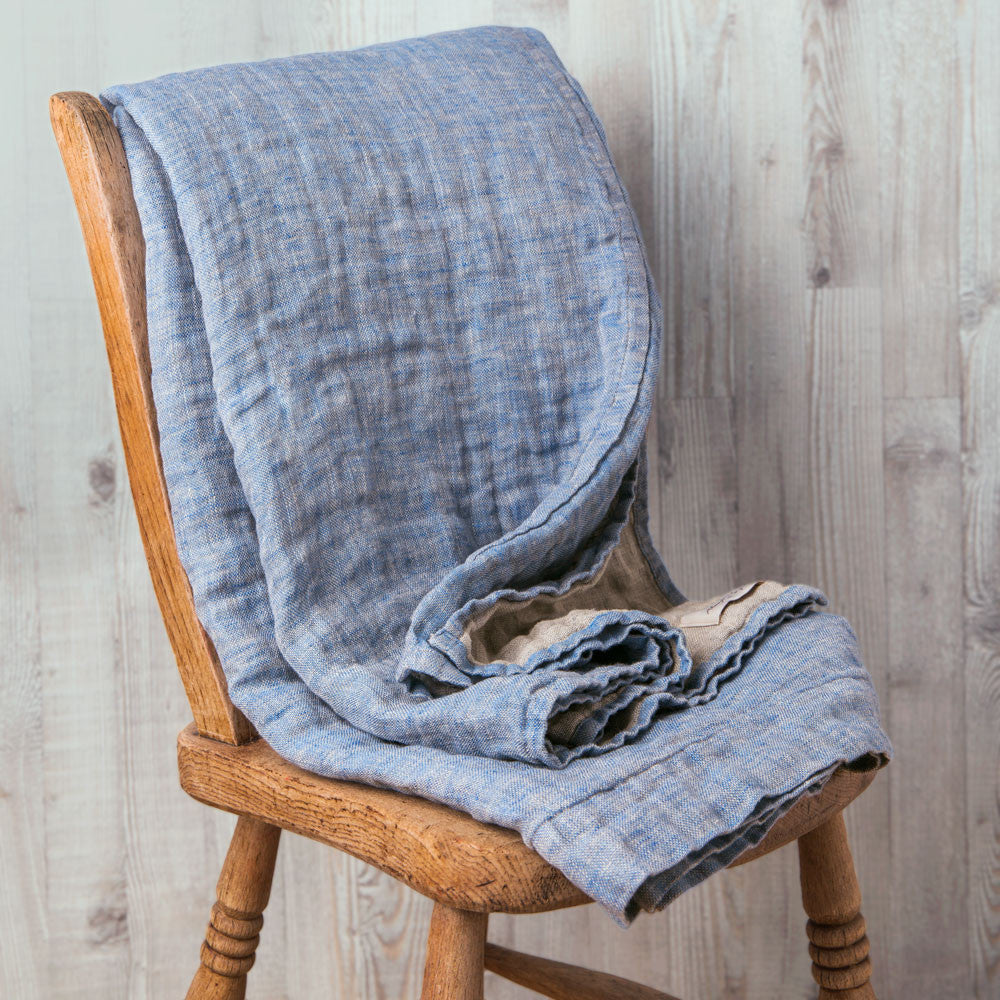 double sided linen blanket-textiles - throws - maine-always piper-k colette