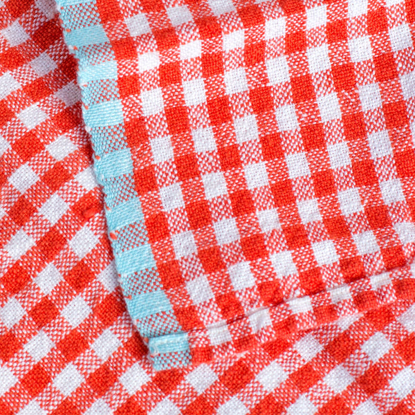 two tone gingham tea towels-kitchen & dining - tea towels & aprons-couleur nature-k colette