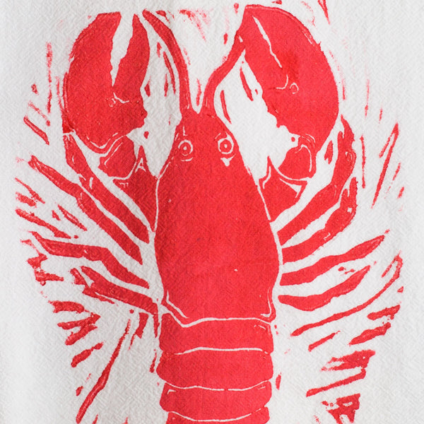 lobster wood block print tea towel-kitchen & dining - tea towels & aprons-color.joy-Default-k colette