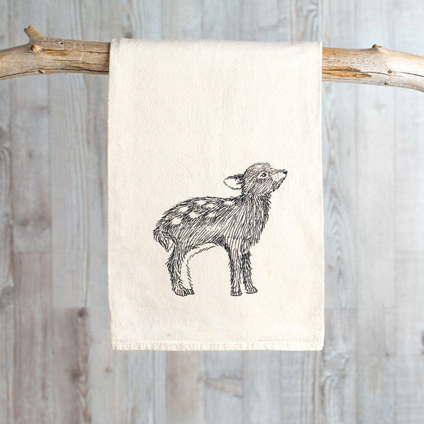 flour sack towel-kitchen & dining - tea towels & aprons-skt ceramics-k colette