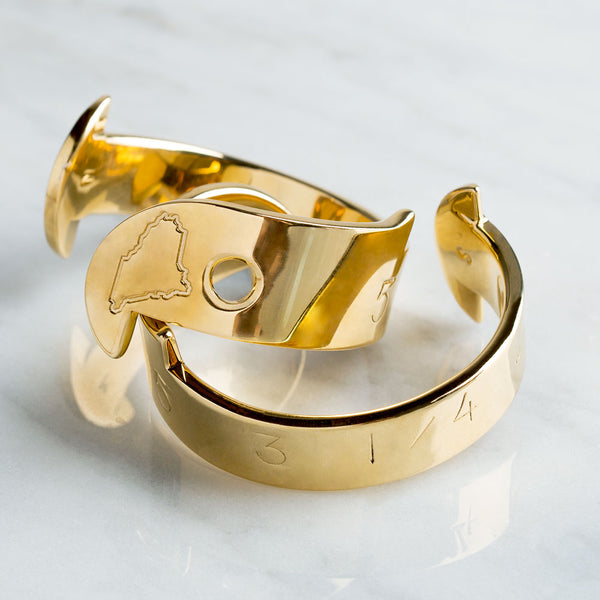 the perfect catch cuff, engraved-accessories - jewelry - maine-watts in maine-k colette